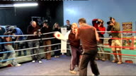 Interviews with Joe Calzaghe and Enzo Calzaghe More of Calzaghe training with Enzo Calzaghe / Calzaghe along in boxing ring / More of Calzaghe...