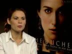 Interviews with Keira Knightly Saul Dibb Dominic Cooper and Hayley Atwell Hayley Atwell On working with Keira Knightley / On working with Ralph...