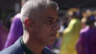 Interviews with Sadiq Khan and Emma Dent Coad MP as they joined faith leaders to open Notting Hill Carnival and to remember Grenfell Tower victims
