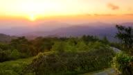 Inthanon Mountains at sunrise