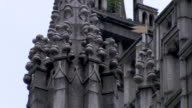 Intricate carvings adorn the exterior of Marischal College in Aberdeen, Scotland. Available in HD.