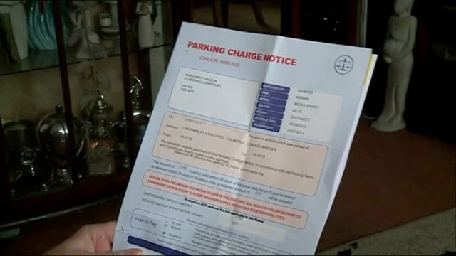 Investigation discovers drivers still receive fines from rogue parking operators ENGLAND London EXT SEQUENCE Margaret Wilson getting onto car...