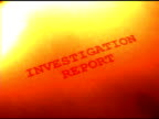 Investigation Report on Fire