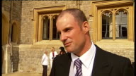 Andrew Strauss receives OBE Andrew Strauss OBE interview SOT very special day / people from all different walks of life / very honoured and...