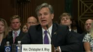 Iowa Senator Chuck Grassley asks nominee for director of the Federal Bureau of Investigation Christopher Wray about his credentials for managing the...