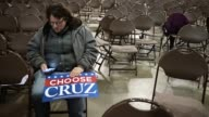 Iowa voters attend a rally with Republican presidential candidate Sen Ted Cruz at the Iowa State Fairgrounds January 31 2016 in Des Moines Iowa