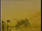 Iraq takes control of Khorramshahr port IRAN Khorramshahr Field Artillery fire SOT GV Gun firing SOT MS Shell carried to gun and loaded MS Gun fires...