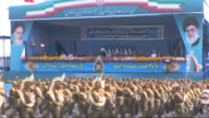 Iranian Army soldiers march past President Hassan Rouhani during the Army Day parade in Tehran on April 18 2015 Iranian president Hassan Rouhani...