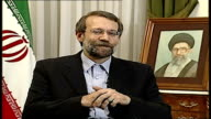 Iranian National Security Advisor Ali Larijani interview We have nothing to do with Shi'ites or Sunnis / We suffered at the hands of Saddam Hussein...