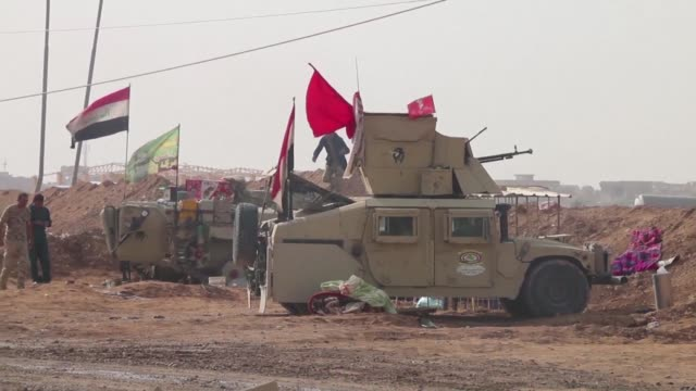 Iraqi forces were deployed along the border with Syria near Al Qaim on Thursday while on the Syrian side regime forces and allied militiamen expelled...