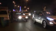 Iraqi people gather at Tahrir Square to celebrate the lifting of years old night curfew in Baghdad Iraq on February 07 2015 The curfew was first...