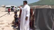 Iraqi people take shelter in safety zone under army control as clashes between Iraqi forces and Daesh terrorists continue in Fallujah during the...