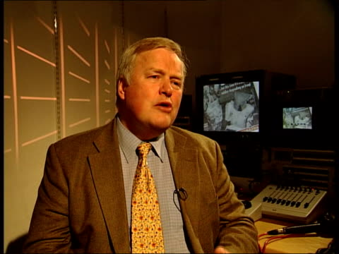Investigation details ITN ENGLAND London INT Colonel Bob Stewart talking with BV Webster / Colonel Bob Stewart interview SOT British soldiers on the...