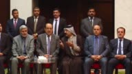 Iraqi Vice President Nouri alMaliki and Ayad Allawi Prime Minister Haider alAbadi Parliament speaker Salim alJabouri deputy directorgeneral of the...