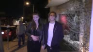 INTERVIEW Ireland Baldwin Noah Schweizer talk about being who you want to be after having dinner at Craig Restaurant in West Hollywood in Celebrity...