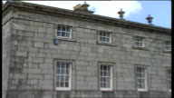 Irish art theft County Wicklow airview Russborough House windows of House security alarms track at back of House police searching van with some of...
