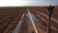 WS Irrigation equipment on field, Cadiz, Spain