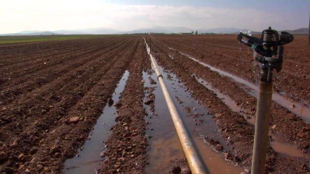WS Irrigation equipment on field, Cadiz, Spain
