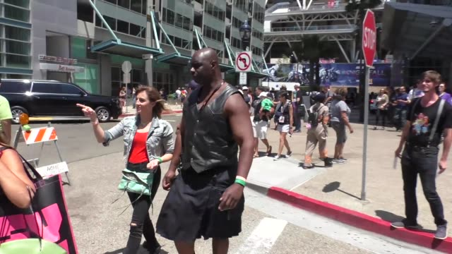 Isaac C Singleton Jr at Celebrity Sightings at San Diego ComicCon International on July 21 2017 in San Diego California