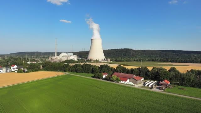 Isar Nuclear Power Plant In Lower Bavaria Near Landshut