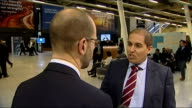 Islamic finance encouraged in London Excel Centre INT Setup shots and interview with Anouar Adham SOT potential is massive / UK is trying to put...