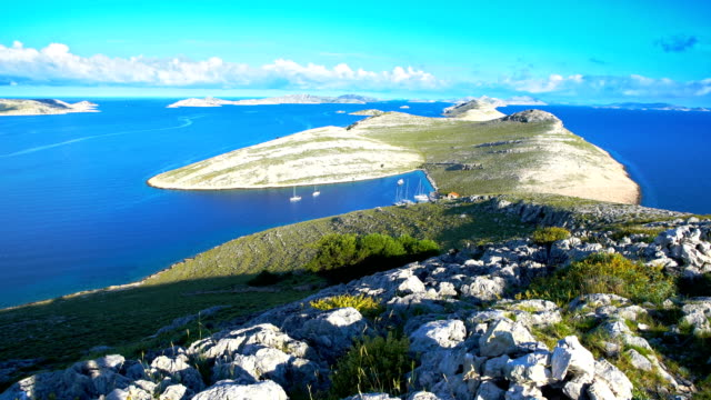 Island Kornat, Dalmatia, Croatia, view from above
