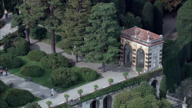 Isola Bella Gardens  - Aerial View - Piedmont, Verbania, Stresa, Italy