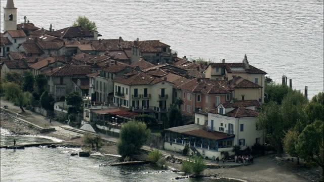 Isola Superiore  - Aerial View - Piedmont, Verbania, Stresa, Italy