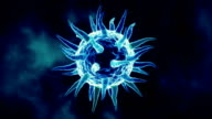 Isolated Virus Background Blue