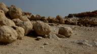 Israel- Masada, rolling stones