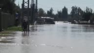 Israeli authorities have opened the gates of a dam near the Gaza Strip which led to the flooding of several homes in the enclave in Gaza on 22...