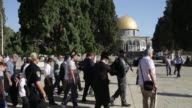 Israeli lawmaker Yehuda Glick shot in 2014 over his campaign for Jewish prayer an ultra sensitive Jerusalem holy site visited there on Tuesday during...