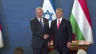 Israeli leader Benjamin Netanyahu praises Budapest for standing up for the Jewish state at talks with Hungarian premier Viktor Orban who is under...