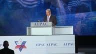 Israeli Prime Minister Benjamin Netanyahu addresses the 2015 American Israeli Public Affairs Committee massive conference at the Washington...