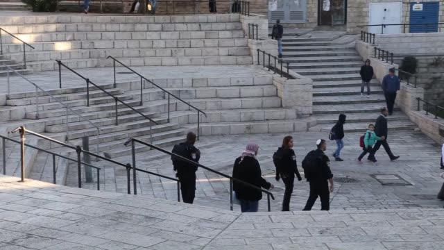 Israeli security forces tighten security measures in Jerusalem on November 19 2014 after an attack at a West Jerusalem synagogue On Tuesday four...