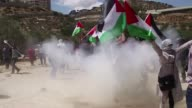 Israeli soldiers fired tear gas and stun grenades on Sunday to disperse a protest in a Palestinian Christian town near Bethlehem against renewed work...