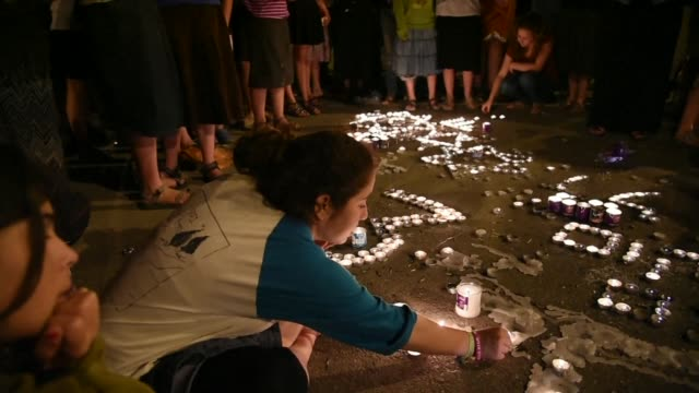 Israelis spontaneously gather around midnight at Gush Etzion junction the area of the West Bank where 3 Israeli youth were kidnapped and murdered 18...