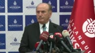 Istanbul Mayor Kadir Topbas holds a press conference to announce resignation from his post in Istanbul Turkey on September 22 2017 Topbas said while...