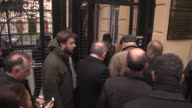 Istanbul Provincial Organization Members of Republican People's Party of Turkey leave carnations outside the Russian consulate general in Istanbul on...