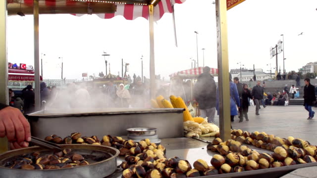 Istanbul Roasted Chestnuts Market Vendor