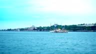 4K: Istanbul, Turkije, het paleis Topkapi, Hagia Sophia, Sultan Ahmet Camii - blauwe moskee - Stock video