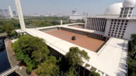 Istiqlal Mosque from the Air, Largest Mosque in Indonesia