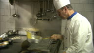 Italian chef cooking traditional cuisine