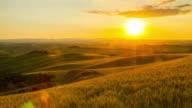 T/L Italian countryside in the sunrise