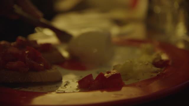 Italian Dinner-Bruschetta and Mozzarella