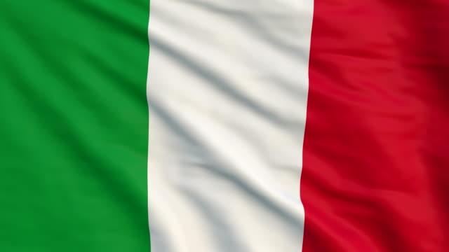 italian flag animation 4K