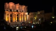 Italian flautist Massimo Mercelli and Iranian born pianist Ramin Bahrami perform during 30th International Izmir Festival at Ephesus ancient city in...