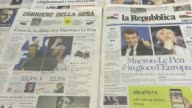 Italian media react to the results of the first round of France's presidential election with mainstream newspapers flocking to back centrist Emmanuel...
