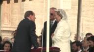 Italian Prime Minister Silvio Berlusconi Queen Paola and King Albert II of Belgium The Beatification of Pope John Paul II at Saint Peter's Square on...