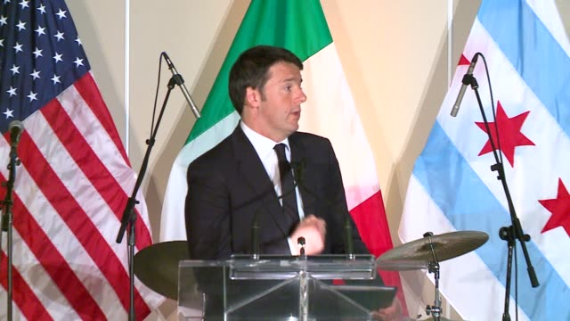 WGN Italian Prime Minister Speaking About Chicago During Trip to Chicago on March 30 2016